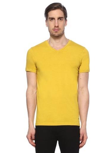 Boss V Yaka Tişört Sarı